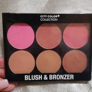 City Color Collection Blush & Bronzer Palette